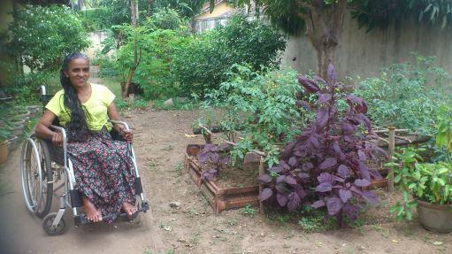 Kusumalatha in the Garden